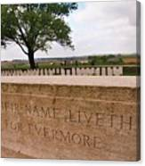 Their Name Liveth For Evermore Canvas Print