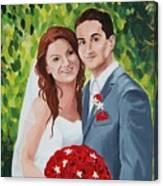 Their Wedding Day Canvas Print
