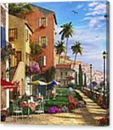 Themed Terrace Canvas Print