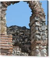 Theodosian Walls - View 17 Canvas Print