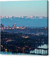 The_olympics_over_seattle Canvas Print