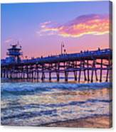There Will Be Another One - San Clemente Pier Sunset Canvas Print