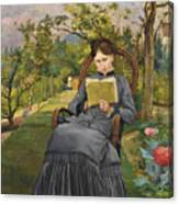 Therese Reading In The Park Of Meric Canvas Print