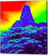 Thermal Face Of Hawaii Canvas Print