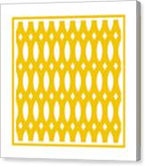 Thick Curved Trellis With Border In Mustard Canvas Print