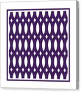 Thick Curved Trellis With Border In Purple Canvas Print