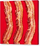Thick Cut Bacon Served Up Canvas Print