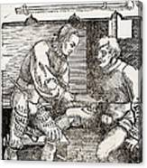 Thigh Cauterization, 16th Century Canvas Print