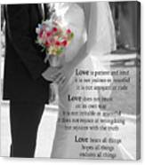 Things To Remember About Love - Black And White #3 Canvas Print