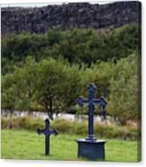 Thingvellir Church Cemetery, Iceland Canvas Print