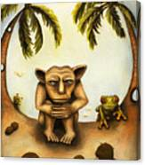 Thinking About Coconuts Canvas Print