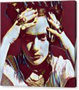 Thinking Frida Canvas Print