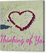 Thinking Of You Card Canvas Print