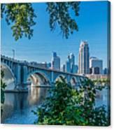 Third Avenue Bridge Over Mississippi River Canvas Print