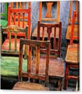 Thirteen Chairs Canvas Print
