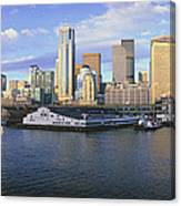 This Is The Skyline And Harbor Canvas Print