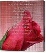 This Little Rose On Digital Linen Canvas Print