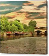 This Morning On The River Canvas Print