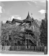 This Old House In Black And White Canvas Print