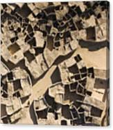 This Old Salt Slab Town In Dirkou Canvas Print