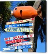 This Way To Florida Canvas Print