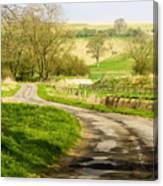 Thixendale Road  North Yorkshire Canvas Print