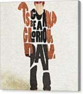 Thom Yorke Typography Art Canvas Print