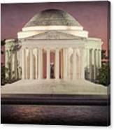 Thomas Jefferson Memorial At Sunset Artwork Canvas Print