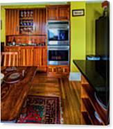 Thomas Kitchen With Old Fashioned Icebox And Refrigerator Canvas Print