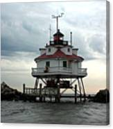Thomas Point Shoal Lighthouse - Up Close Canvas Print