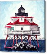 Thomas Point Shoal Lighthouse Annapolis Maryland Chesapeake Bay Light House Canvas Print