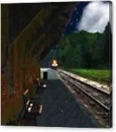 Thomaston Train At Night Canvas Print