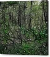 Thoreau Woods Fractal Canvas Print