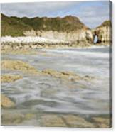 Thornwick Bay At Flamborough Canvas Print