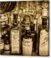 Those Old Apothecary Bottles In Sepia Canvas Print