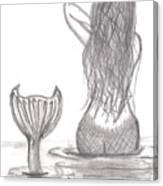 Thoughtful Mermaid Canvas Print