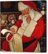 Thoughtful Santa Canvas Print