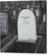 Thoughts  Silent As The Grave Canvas Print