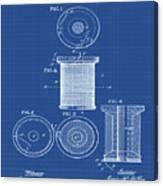 Thread Spool Patent 1877 Blueprint Canvas Print