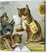 Thread Trade Card, 1880 Canvas Print