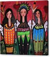 Three Angels Canvas Print