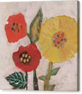 Three Awkward Flower Blossoms Canvas Print