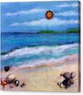 Three Beaches A Canvas Print