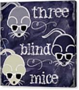 Three Blind Mice Children Chalk Art Canvas Print