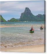 Three Boats Thailand Canvas Print