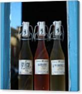 Three Bottles Of Liqueur Canvas Print