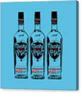 Three Bottles Of Nucky Rye Tee Canvas Print