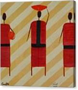 Three Carrier Ladies Canvas Print