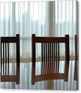 Three Chairs Reflection Canvas Print