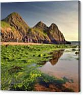 Three Cliffs Bay 3 Canvas Print